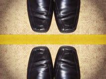 Παπούτσια μαύρων με το διάστημα αντιγράφων Στοκ εικόνα με δικαίωμα ελεύθερης χρήσης