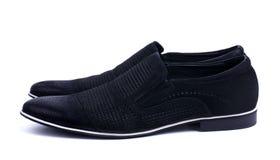 Παπούτσια μαύρων που απομονώνονται στο λευκό στοκ φωτογραφίες