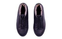 Παπούτσια μαύρων στο άσπρο υπόβαθρο Στοκ Εικόνα