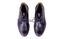 Παπούτσια μαύρων στο άσπρο υπόβαθρο Στοκ φωτογραφία με δικαίωμα ελεύθερης χρήσης