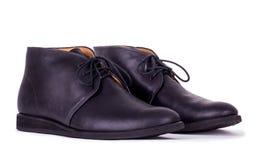 Παπούτσια μαύρων στο άσπρο υπόβαθρο Στοκ Εικόνες