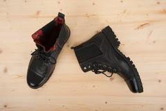 παπούτσια μαύρων s Στοκ Εικόνες