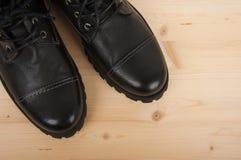 παπούτσια μαύρων s Στοκ εικόνα με δικαίωμα ελεύθερης χρήσης