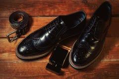 παπούτσια με το άρωμα και τη ζώνη Στοκ Φωτογραφία