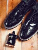 Παπούτσια με το άρωμα και τη μανσέτα Στοκ εικόνες με δικαίωμα ελεύθερης χρήσης