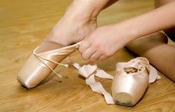 παπούτσια μπαλέτου pointe Στοκ φωτογραφία με δικαίωμα ελεύθερης χρήσης