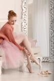 Παπούτσια μπαλέτου φορεμάτων Ballerina Στοκ εικόνα με δικαίωμα ελεύθερης χρήσης