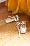 Παπούτσια μπαλέτου Pointe Στοκ Εικόνες