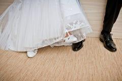 Παπούτσια νυφών και νεόνυμφων. Στοκ Εικόνα