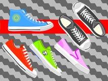 Παπούτσια 01 πάνινων παπουτσιών διανυσματική απεικόνιση