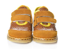 Παπούτσια παιδιών που απομονώνονται πέρα από το άσπρο υπόβαθρο Στοκ Φωτογραφία