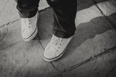 Παπούτσια παιδιών ` s Μόδα πάνινα παπούτσια Στοκ Εικόνες