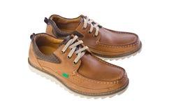 Παπούτσια, παπούτσια ατόμων στην ανασκόπηση. Στοκ Εικόνες