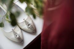Παπούτσια παράνυμφων με τη στάση εξαρτημάτων Στοκ Φωτογραφία