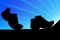 παπούτσια πεζοπορίας διανυσματική απεικόνιση