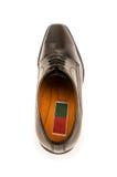 Παπούτσια που απομονώνονται μαύρα στοκ εικόνες