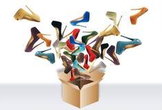 Παπούτσια πολλών γυναικών στοκ φωτογραφία