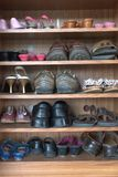 παπούτσια ραφιών Στοκ Εικόνα