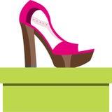 Παπούτσια σε ένα κιβώτιο διανυσματική απεικόνιση