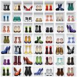 Παπούτσια στα ράφια διανυσματική απεικόνιση