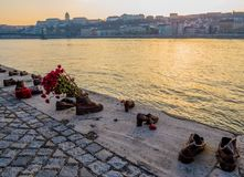 Παπούτσια στην τράπεζα Δούναβη, Βουδαπέστη Στοκ εικόνα με δικαίωμα ελεύθερης χρήσης