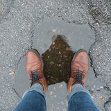Παπούτσια στο νερό Στοκ εικόνα με δικαίωμα ελεύθερης χρήσης