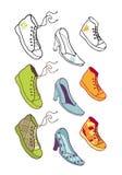 παπούτσια συλλογής Στοκ φωτογραφίες με δικαίωμα ελεύθερης χρήσης
