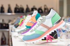 Παπούτσια το κατάστημα Στοκ Εικόνες