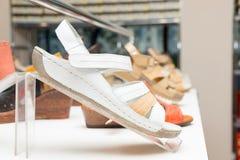 Παπούτσια το κατάστημα Στοκ εικόνες με δικαίωμα ελεύθερης χρήσης