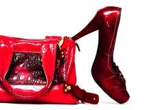 παπούτσια τσαντών γυναικ&epsi Στοκ φωτογραφία με δικαίωμα ελεύθερης χρήσης