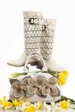 παπούτσια τσαντών Στοκ Εικόνες