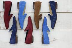 Παπούτσια των ατόμων θερινού δέρματος Στοκ Φωτογραφία