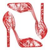 Παπούτσια των όμορφων γυναικών τεχνολογίας Στοκ Εικόνα