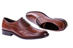 Παπούτσια φθινοπώρου ατόμων με τις δαντέλλες Στοκ φωτογραφία με δικαίωμα ελεύθερης χρήσης