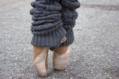 Παπούτσια Pointe Στοκ φωτογραφίες με δικαίωμα ελεύθερης χρήσης