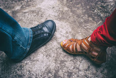 Παπούτσι και σανδάλι αντισφαίρισης Στοκ Εικόνες