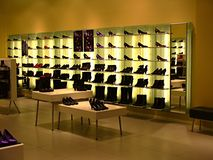 παπούτσι μπουτίκ Στοκ Εικόνα