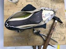Παπούτσι που κάνει με το χέρι Στοκ φωτογραφίες με δικαίωμα ελεύθερης χρήσης