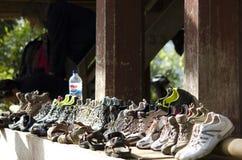 Παπούτσι σε μια σειρά Στοκ Εικόνες