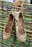 παπούτσι φραγών ίνας ραφίας Στοκ Φωτογραφία
