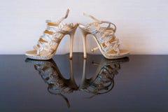 Παπούτσια νυφών στοκ φωτογραφία με δικαίωμα ελεύθερης χρήσης