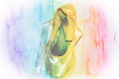 Παπούτσι Pointe μπαλέτου στοκ φωτογραφίες
