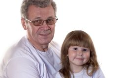 παππούς εγγονών Στοκ Εικόνα