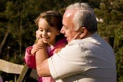 παππούς εγγονών Στοκ φωτογραφία με δικαίωμα ελεύθερης χρήσης