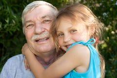 παππούς παιδιών Στοκ εικόνα με δικαίωμα ελεύθερης χρήσης