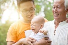 Παππούς, πατέρας και εγγονός Στοκ Εικόνες