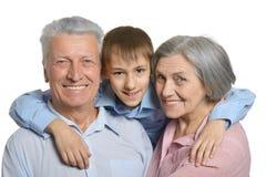 Παππούδες και γιαγιάδες με τον εγγονό Στοκ Φωτογραφία