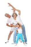 Παππούδες και γιαγιάδες με το μικρό κορίτσι Στοκ Φωτογραφία