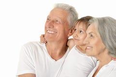 Παππούδες και γιαγιάδες με το μικρό κορίτσι Στοκ Φωτογραφίες