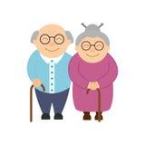 παππούδες και γιαγιάδε&sigm Ηλικιωμένοι άνθρωποι Ημέρα παππούδων και γιαγιάδων ` s ελεύθερη απεικόνιση δικαιώματος